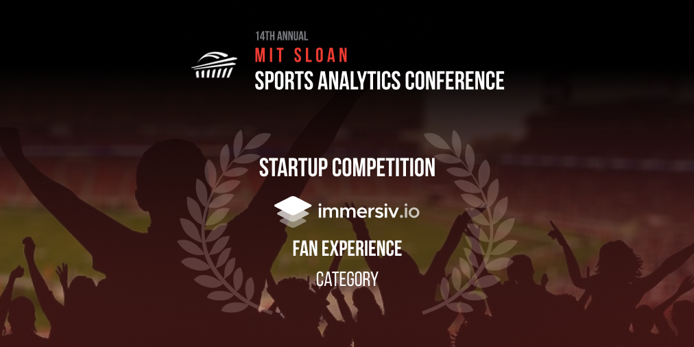 MIT Sloan Sports Analytics Immersiv.io award