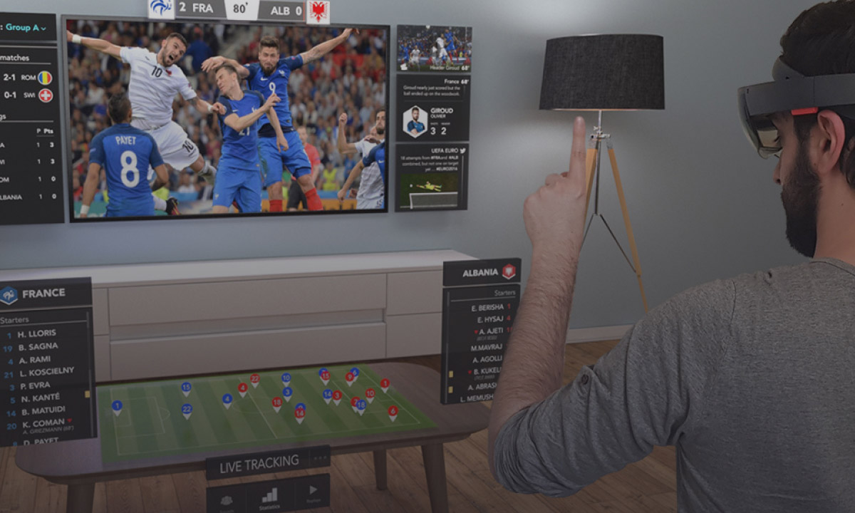 French Football Federation augmented reality sports TV