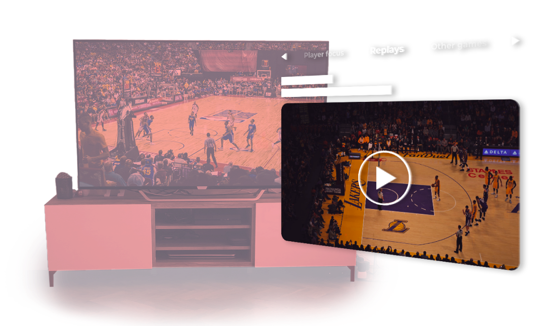immersive fan experience for broadcasters