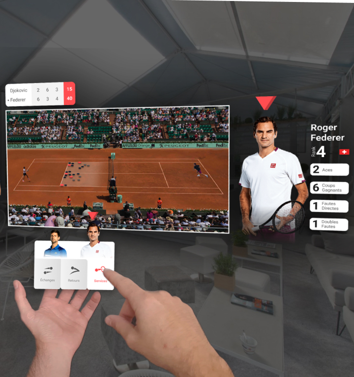 sports television augmented reality tennis