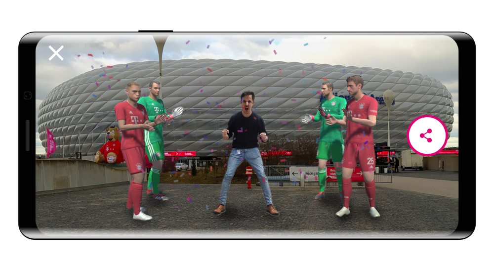 Players AR avatars FC Bayern
