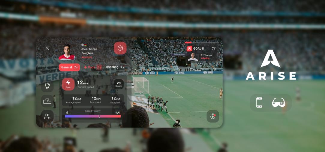 ARISE design AR sports app