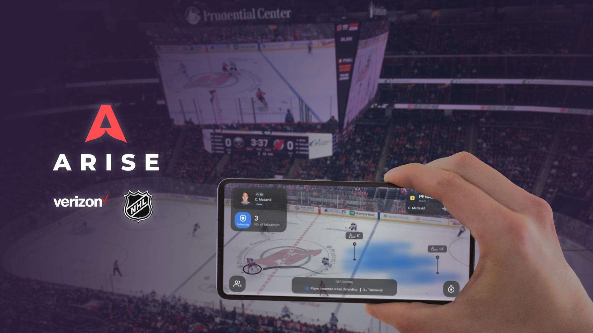 NHL Verizon Augmented Reality App 5G